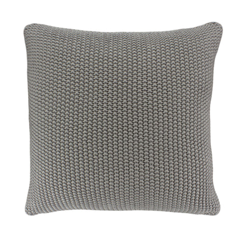 Cotton Knit Pillow Cover, Grey Moss Stitch (20x20)