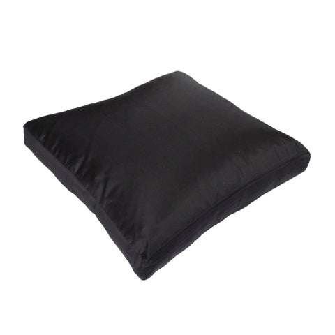 Dupioni Silk Pillow Cover, Ebony (18x18x2)