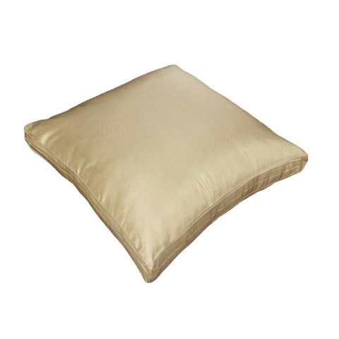 Dupioni Silk Pillow Cover, Ivory (18x18x2)