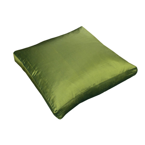 Dupioni Silk Pillow Cover, Peridot Green (18x18x2)