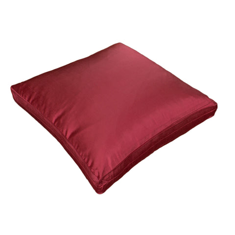 Dupioni Silk Pillow Cover, Raspberry (18x18x2)