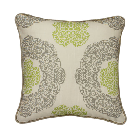 Cotton Pillow Cover, Soul/Natural Green (18x18)