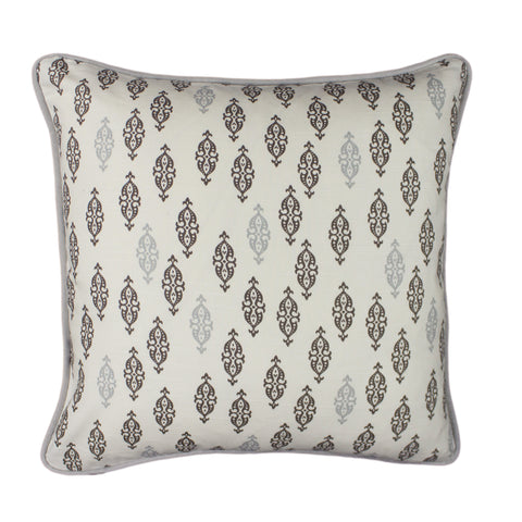 Cotton Pillow Cover, Boteh Brindle (18x18)
