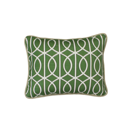 Cotton Linen Pillow Cover, Bella Porte Watercress (12x16)