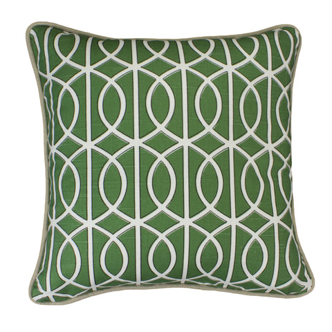 Cotton Linen Pillow Cover, Bella Porte Watercress (18x18)