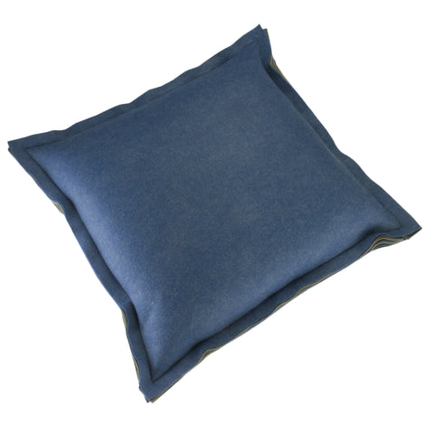 Felt Pillow Cover, Denim (22x22)