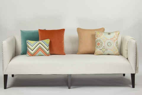 Jacquard Pillow, Chevron Surf Kiwi (12x16)