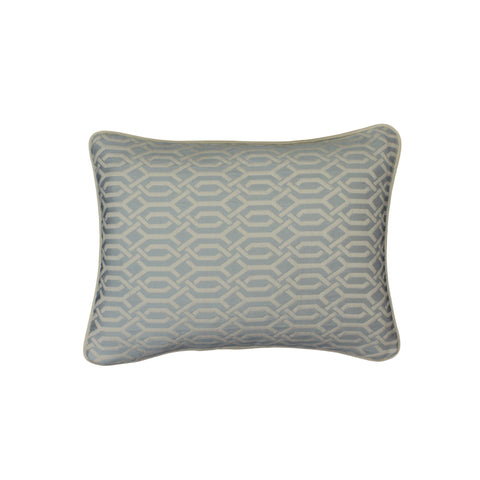 Upholstery Pillow Cover, Ice Blue Interlace (12x16)