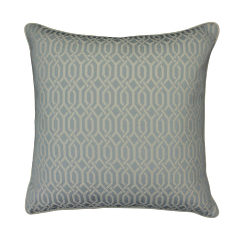 Upholstery Pillow Cover, Ice Blue Interlace (20x20)