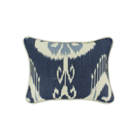 Cotton Pillow Cover, Bansuri Denim Ikat (12x16)