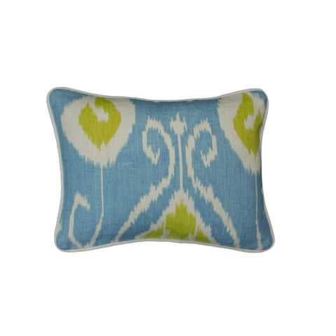 Cotton Linen Pillow Cover, Bansuri Ikat Capri (12x16)