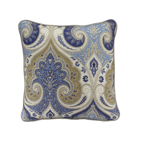 Cotton Pillow Cover, Latika Delta (18x18)