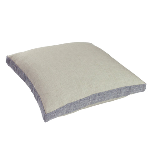 Linen w/ Suiting Pillow Cover, Taupe (18x18x2)