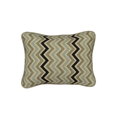Cotton Pillow Cover, Stone Denton Chevron (12x16)