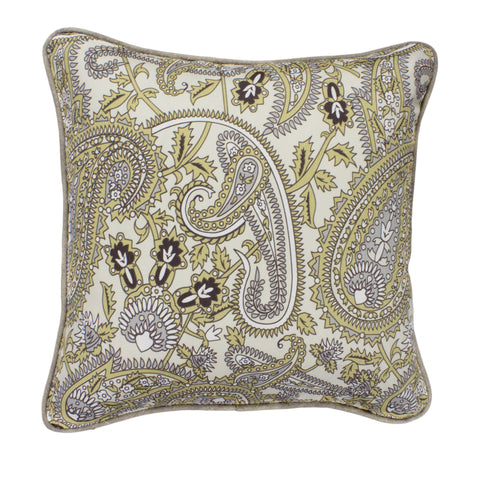 Cotton Pillow Cover, Twill Henna River Rock (18x18)
