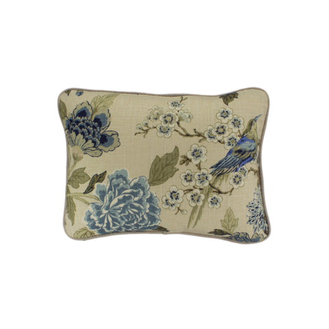 Cotton Pillow Cover, Whipporwill Blue  (12x16)