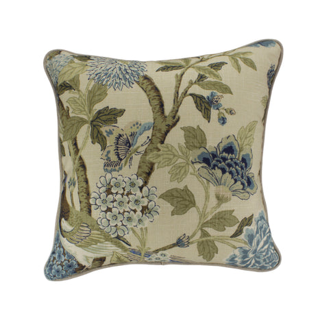 Cotton Pillow Cover, Whipporwill Blue  (18x18)
