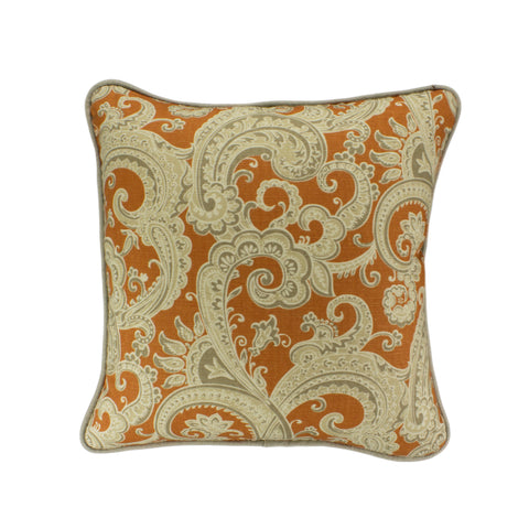Cotton Pillow Cover, Sylva Apricot (18x18)