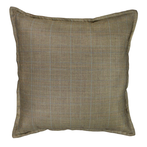 Suiting Pillow Cover, Brown/Beige Glen check (20x20)