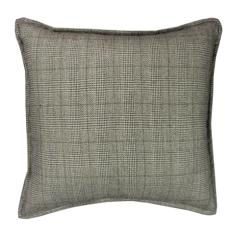 Suiting Pillow Cover, Cream/Black Glen Check (20x20)
