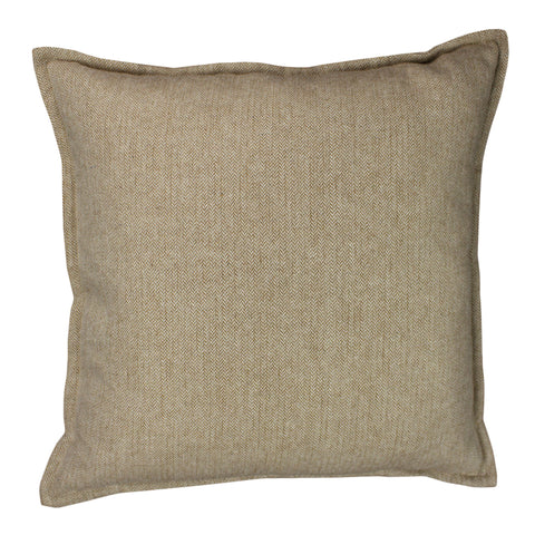 Suiting Pillow Cover, Ivory/Cognac HB (20x20)