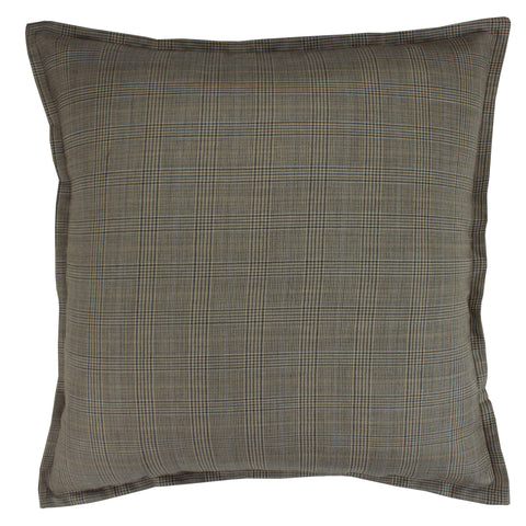 Suiting Pillow Cover, Storm Green Windowpane (20x20)