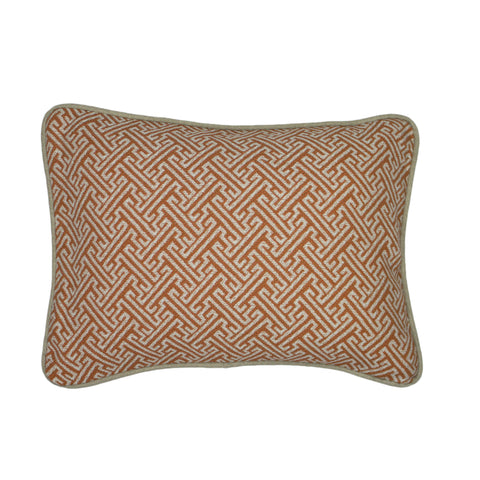 Uph. Pillow Cover, Saffron Greek Key (12X16)