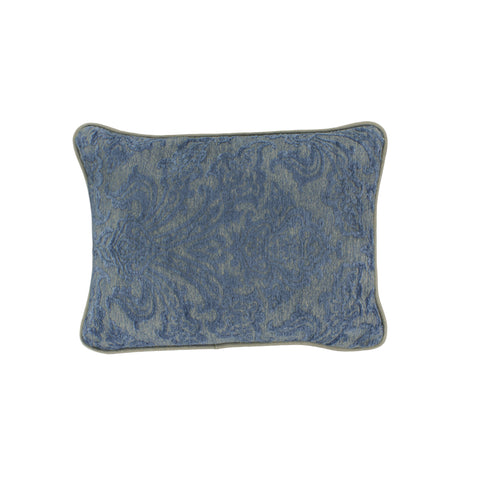 Upholstery Pillow Cover, Blue/Taupe Damask (12x16)
