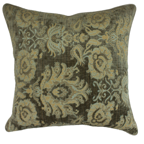 Upholstery Pillow Cover, Damask Taupe (20x20)