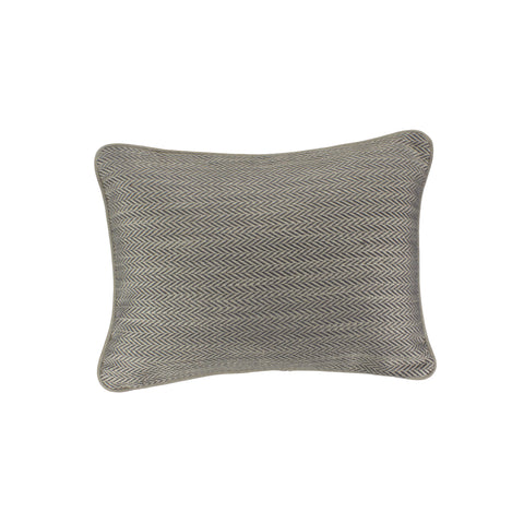 Upholstery Pillow Cover, Graphite Herringbone (12x16)