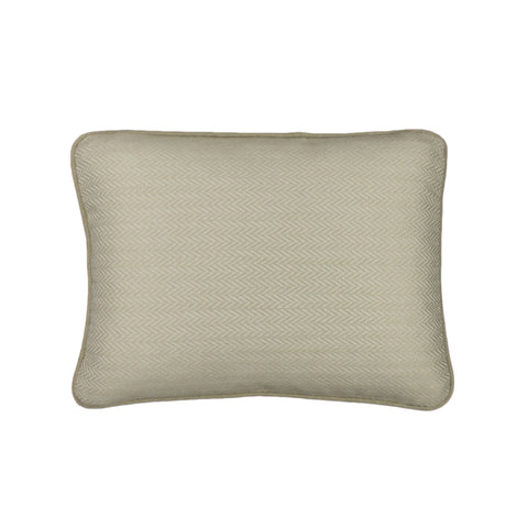 Upholstery Pillow Cover, Oyster Herringbone (12x16)