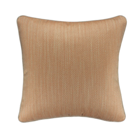 Upholstery Pillow Cover, Tangerine Herringbone (20x20)