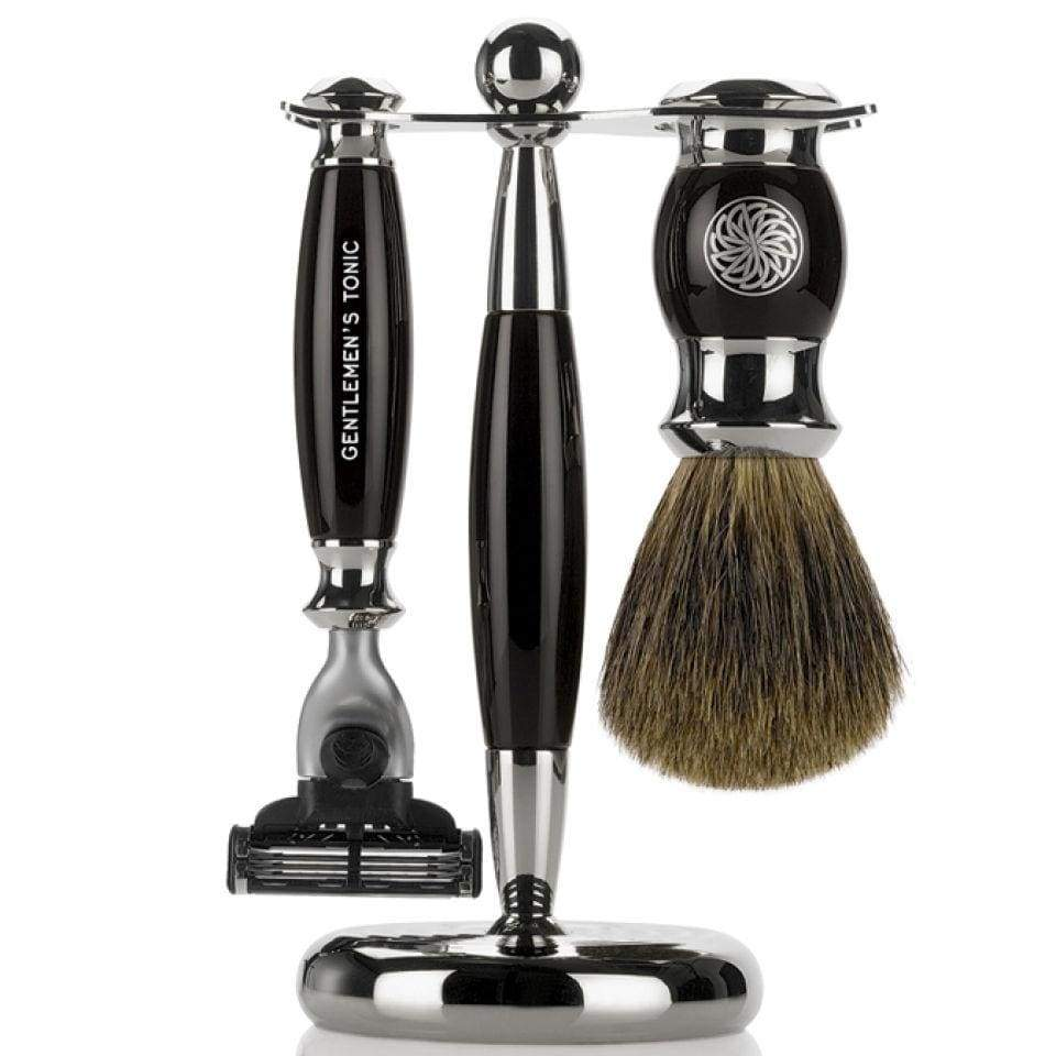 Shaving Gentlemen's Tonic Mayfair Shaving Set - Black / Ebony
