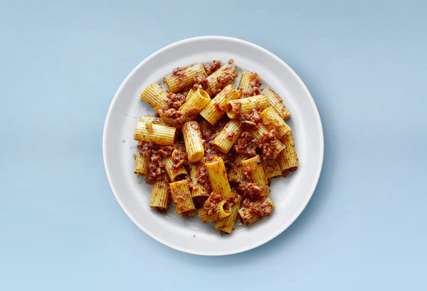 "Yummy Pasta with Cauliflower & Mushroom ""Meat"" Sauce"