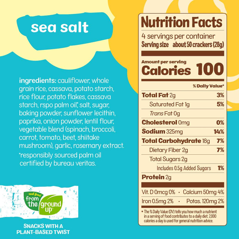 Cauliflower Sea Salt Crackers - 4oz