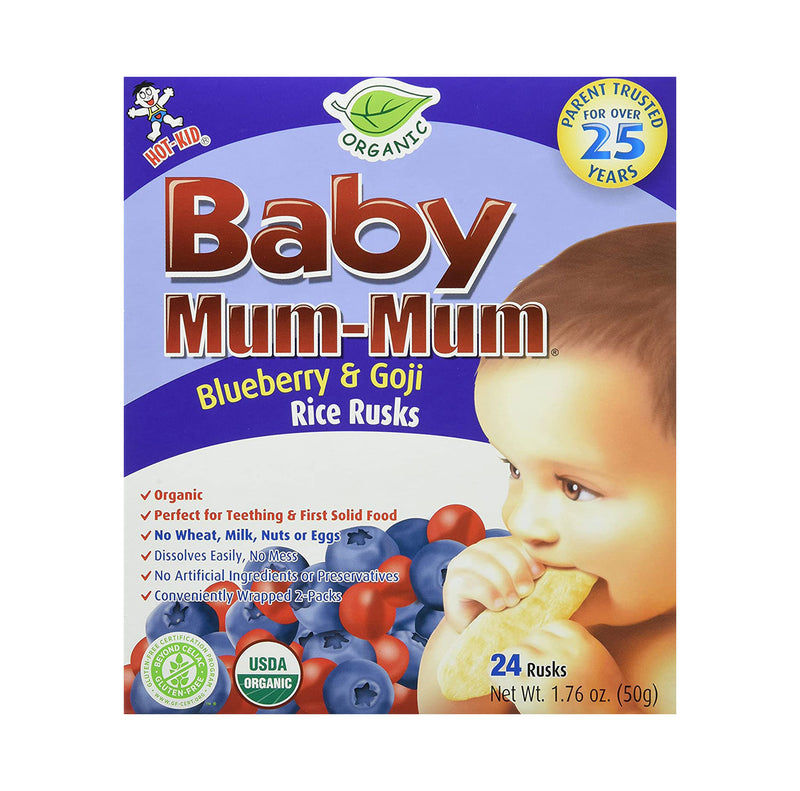 Blueberry & Goji Teething Biscuits - 3pk