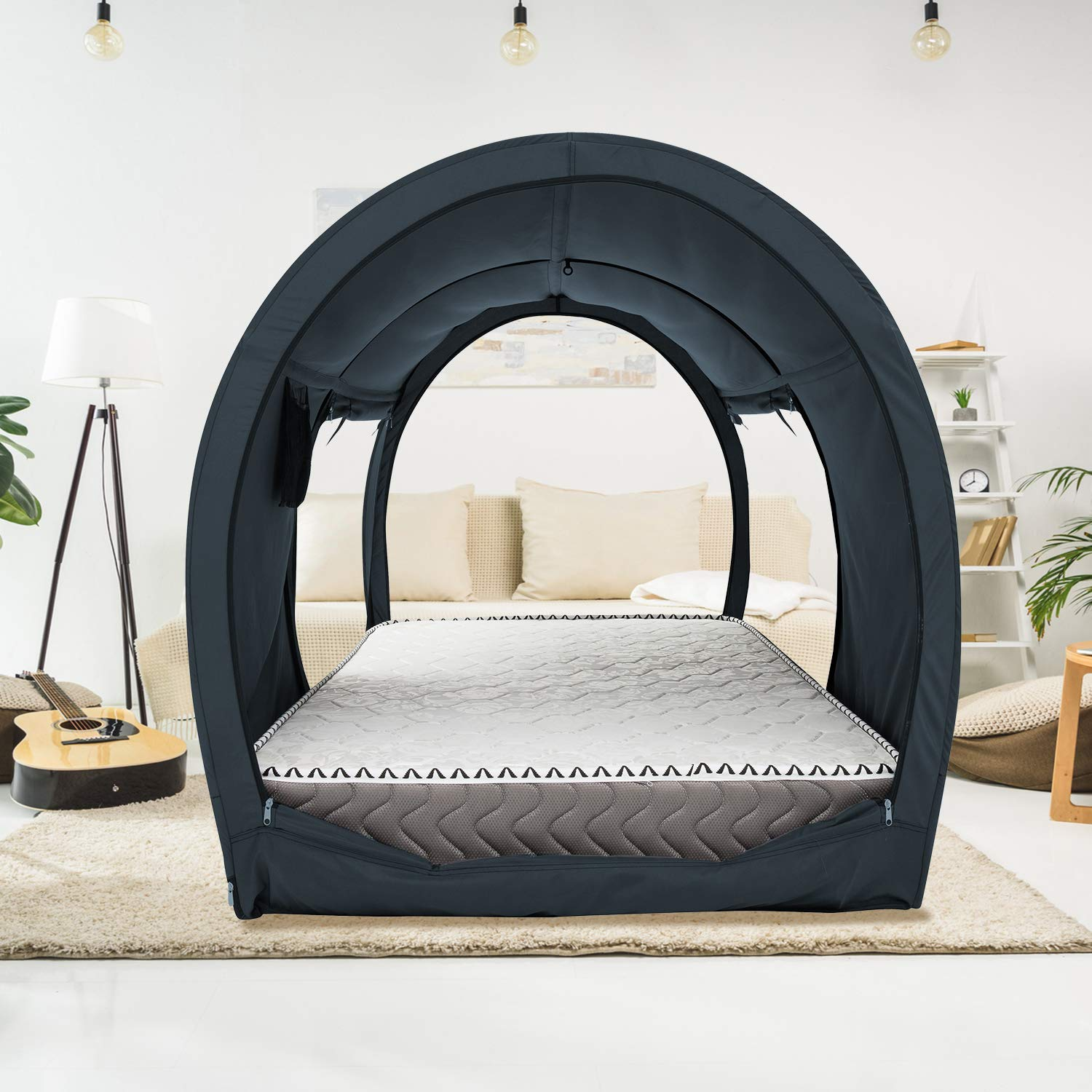 The Bed Tent Lite Twin Full Queen Charcoal Privatepod