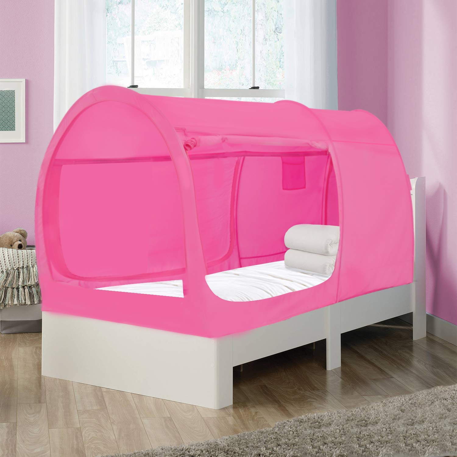 Picture of: The Bed Tent Lite Twin Full Pink Privatepod