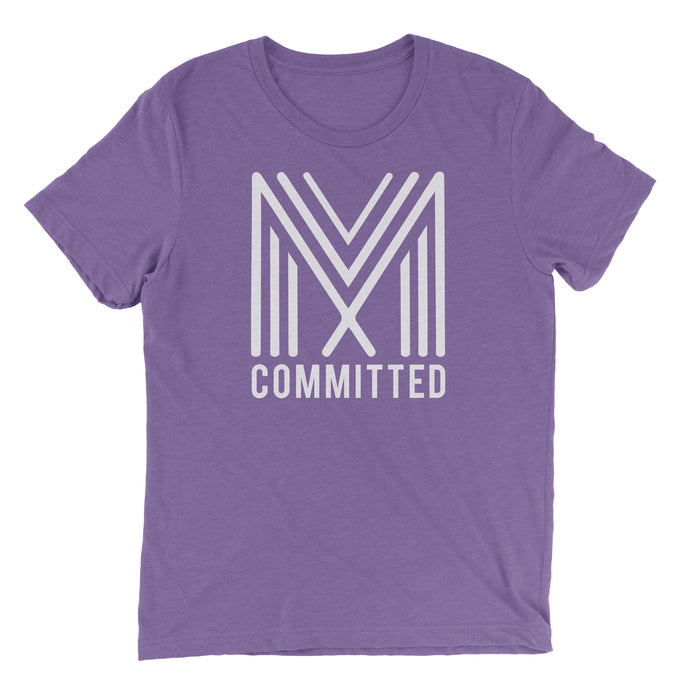 Committed T-Shirt (Heather Team Purple)