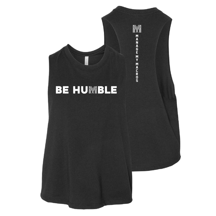Bella Cropped Racerback Be Humble Tank