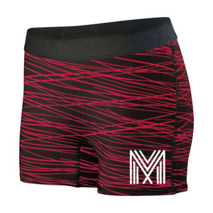 Women's Hyperform Fitted Shorts (Black/Red)