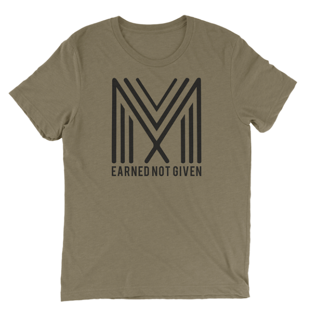 Earned Not Given T-Shirt (Heather Olive)