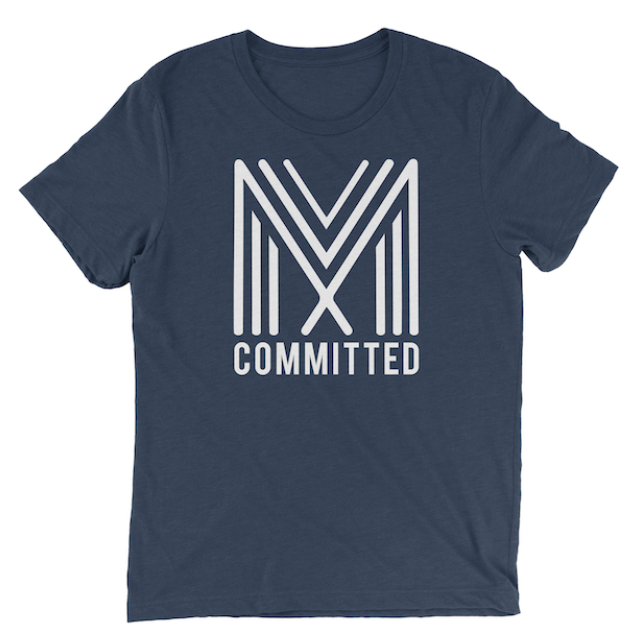 Committed T-Shirt (Navy)