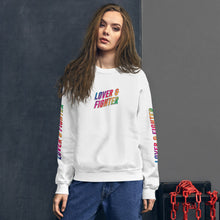 Load image into Gallery viewer, MELTprjct Pride Collection: LOVER & FIGHTER Sweater