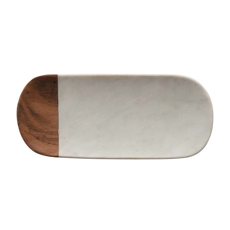 Marble Wood Tray