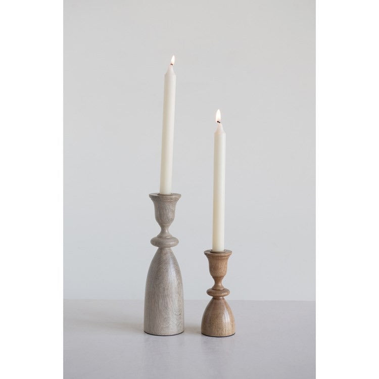 Mango Taper Candle Holders