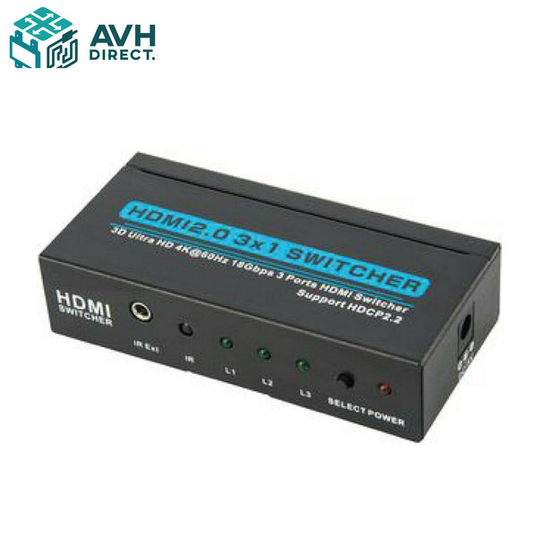 3-Port HDMI Switcher (3 in 1 out)
