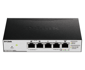 D-Link 5-Port Gigabit PoE Smart Managed Switch and PoE Extender DGS-1100-05PD