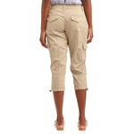 Laden Sie das Bild in den Galerie-Viewer, Frauen Cropped Cargo Plain Casual Pants