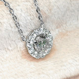 💎1CTW White and Metallic Moissanite Necklace - SOPHYGEMS